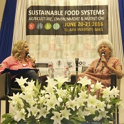 Ms. Miki Haimovich (left) and Prof. Marion Nestle (right)