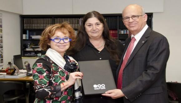 Ms. Norma Drimmer, Head of the Institute Prof. Ronit Kramarsky, President Joseph Klafter